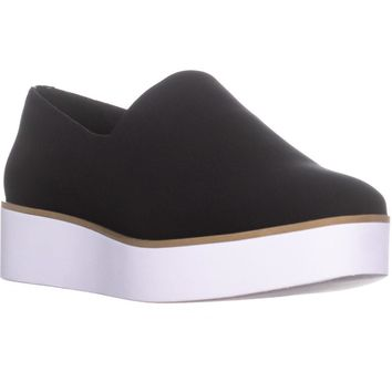 DKNY Robert Stretch Slip On Platform Sneakers, Black, 6 US / 36 EU