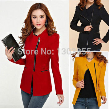 Fashion Womens Ladys Winter Suit Blazer Coat Slim Jacket Outerwear 3Colors