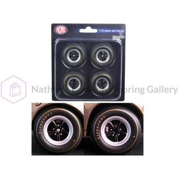 1st 1967 Chevrolet Camaro Z/28 Race Wheels and Tires Set of 4 1/18 by Acme