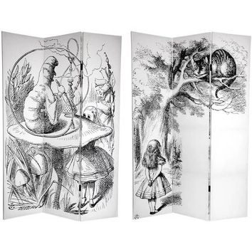Handmade Canvas Double-sided 6-foot Alice in Wonderland Room Divider (China) | Overstock.com Shopping - The Best Deals on Decorative Screens
