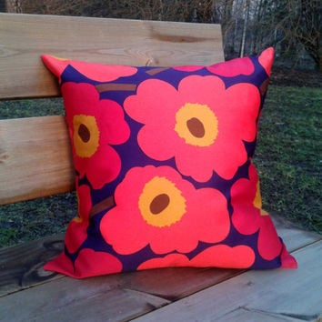 Marimekko Pillow cover, pillow case, pillow sham, throw pillow cover, cushion cover, envelope pillow, Scandinavian pillow, Unikko