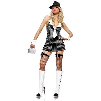 Stripes Dress Halloween Costume [8978891975]