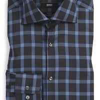 BOSS 'Miles' Sharp Fit Plaid Dress Shirt,