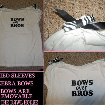 Adorable Black Bows Over Bros Funny T Shirt