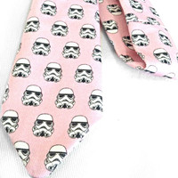 Storm Trooper Star Wars Pink Tie