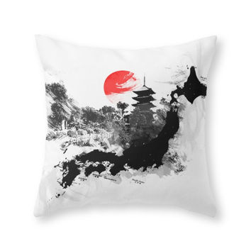 Society6 Abstract Kyoto J Throw Pillow