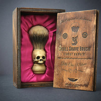 Skull Shaving brush - Hand made finest bardge Shave Brush with elegant box
