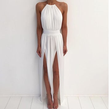 High-Neck Catalina Maxi Dress