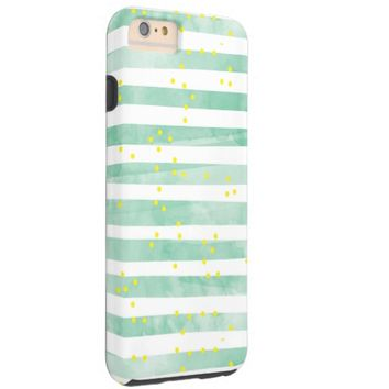 Colorful Abstract Stripes Polka Dots Pattern Tough iPhone 6 Plus Case
