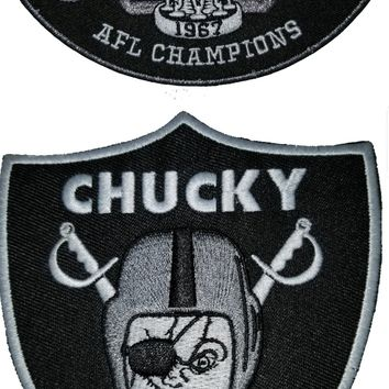Chucky Raider Patch & 50 Anniversary Patch