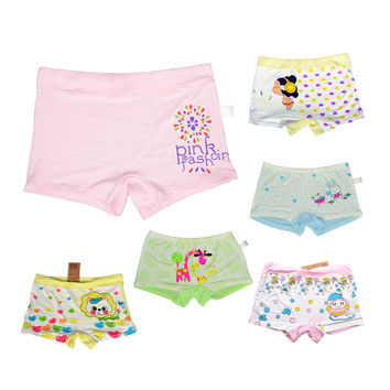 12 Pcs/Lot Brand New Kids Boys Girls Underwear Briefs Boxer Panties Baby Modal Pants Printed Panty Short Children Underpants