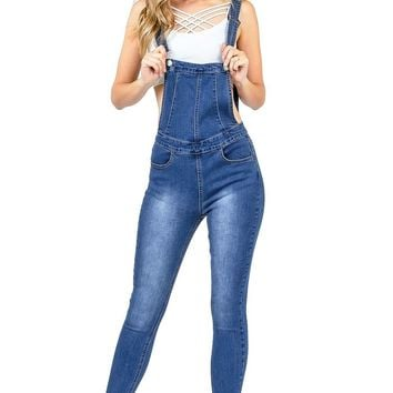 Rewind Ankle Skinny Overalls