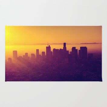 Los Angeles at Sunset Rug by Creativepics
