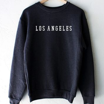 Los Angeles Oversized Sweatshirt - Dark Heather Grey