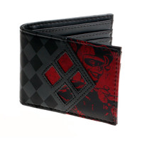 DC Comics Harley Quinn Checkered Bi-Fold WALLET