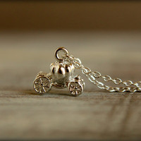 Cinderella's Carriage Necklace in Silver