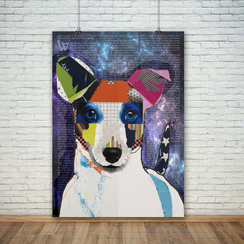 Dog Art Abstract, (Instant Download) , 300 dpi, Popular Digital Art, Decoration, Poster