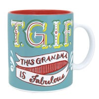 T.G.I.F. This Grandma is Fabulous Oversized Mug or Soup Cup-Holds 20 Oz.