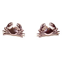 Maryland Blue Crab (Sterling Silver w/ 14K Rose Gold Vermeil) / Earrings