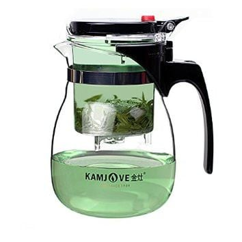 Kamjove Glass Gongfu Tea Maker Press Art Cup Teapot with Infuser TP-757 700ml