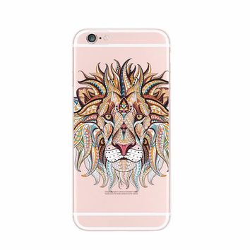 Stunning animal art clear phone case