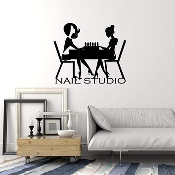 Vinyl Wall Decal Nail Studio Salon Manicure Beauty Decor Art Stickers Mural (ig5639)