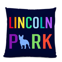 Lincoln Park French Bulldog Pillow - Lincoln Park Home Decor - Frenchie pillow - Chicago pillow - Chicago Neighborhood - Dog Pillow