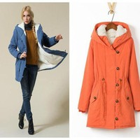 ac PEAPON Winter Cotton Lovely Plus Size Jacket [61751361561]