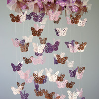 Butterfly Nursery Mobile - Purple, .. on Luulla