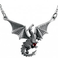 Braxus Dragon Pendant Collectible Necklace Accessory Serpent Jewelry