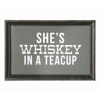 Creative Co-Op Whiskey in a Tea Cup Wall Art | Nordstrom