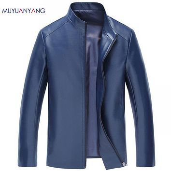 New Arrivals Men's Leather Coats Spring Leather Jacket Men Leather Jackets Overcoat High Quality