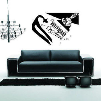 Hollywood Wall Decal Hollywood Sticker Movie Star Room Living Room Decor 3733