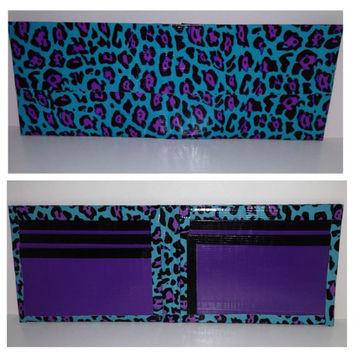 Leopard Duct Tape Bi-fold Wallet