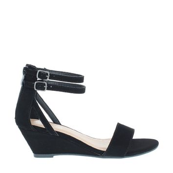 Ankle Straps Low Wedge Sandal