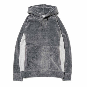 Fur Fleece Lining Raglan Hooded Parka