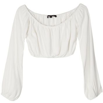 For Love & Lemons Ivory Chi Chi Crop Top