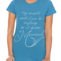 Became A Mermaid Girls T-Shirt