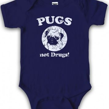 Pugs Not Drugs Baby Creeper