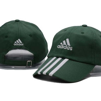 Green Adidas Printed Cotton Baseball Golf Cap