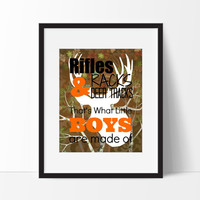 Hunting Nursery Decor Hunting Art Hunting by SimplyLoveCreations