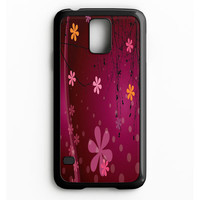 Cute Pink Flower Samsung Galaxy S5 Case