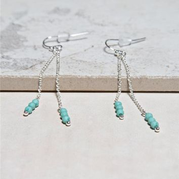 Seed Bead Chain Earrings