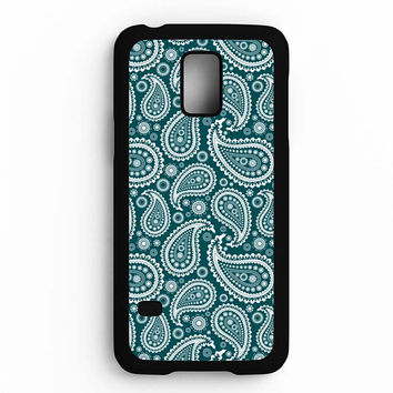 Paisley Pattern Art Blue Samsung Galaxy S5 Mini Case