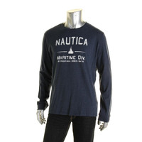 Nautica Mens Graphic Classic Fit Casual Shirt