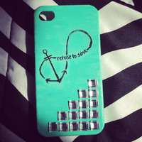 "Anchor Infinity ""Refuse To Sink"" iPhone 4/4S Case"