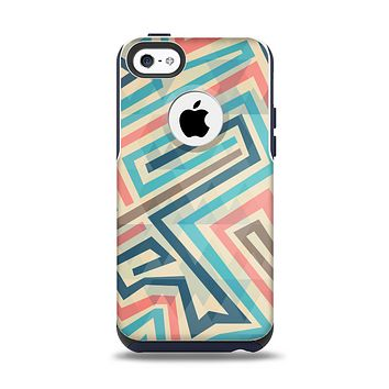 The Retro Colored Maze Pattern Apple iPhone 5c Otterbox Commuter Case Skin Set