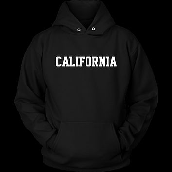 California Jersey Font Hoodie