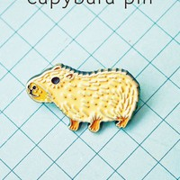 Capybara Pin Enamel Pin by boygirlparty