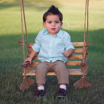 Newborn Swing Prop - Bench Swing Photo Prop - Newborn photography prop, newborn swing prop, wooden photo prop
